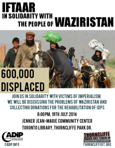 Iftaar in solidarity with the people of Waziristan - July 19, 2014